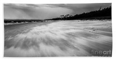 Storm Front On The Beach Bath Towel