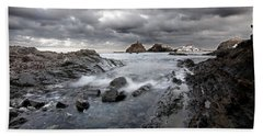 Storm Is Coming To Island Of Menorca From North Coast And Mediterranean Seems Ready To Show Power Hand Towel by Pedro Cardona