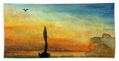 Storm On The Horizon Hand Towel