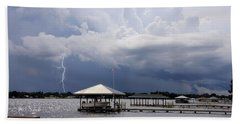 Storm Over Clay Lake Bath Towel by Rosalie Scanlon