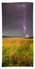 Storm Over The Wheat Fields Bath Towel