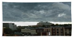 Hand Towel featuring the photograph Storm Over West Chester by Ed Sweeney