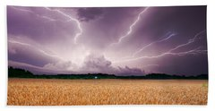 Storm Over Wheat Bath Towel