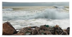 Storm Surf At Rye Beach Bath Towel
