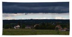 Stormy Countryside Bath Towel