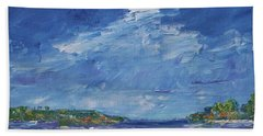 Stormy Day At Picnic Island Hand Towel