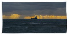 Stormy Falmouth Hand Towel