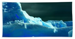 Bath Towel featuring the photograph Stormy Icebergs by Amanda Stadther