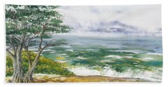 Stormy Morning At Carmel By The Sea California Hand Towel