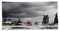 Bath Towel featuring the photograph Stormy Skies Over London by Jeremy Hayden