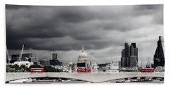 Stormy Skies Over London Bath Towel