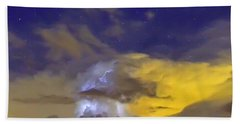 Hand Towel featuring the photograph Stormy Stormy Night by Charlotte Schafer