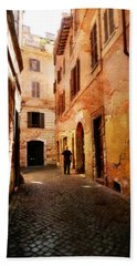 Hand Towel featuring the photograph Strade Di Ciottoli by Micki Findlay