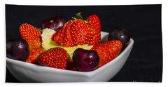 Strawberries And Cream Bath Towel