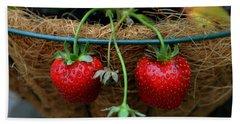 Strawberries Bath Towel by Pamela Walton