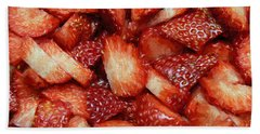 Bath Towel featuring the photograph Strawberry Slices by Andee Design