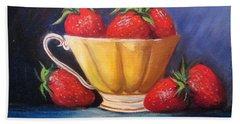 Strawberry Teacup Hand Towel