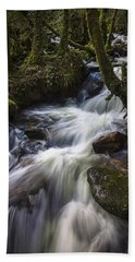 Hand Towel featuring the photograph Stream On Eume River Galicia Spain by Pablo Avanzini