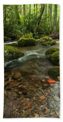 Bath Towel featuring the photograph Stream With The Color Of Early Fall. by Debbie Green