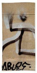 Bath Towel featuring the photograph Street Art 'dablos' Graffiti In Bucharest Romania  by Imran Ahmed