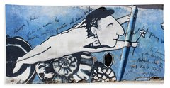 Street Art Santiago Chile Bath Towel