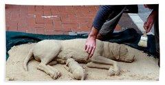 Street Artist Hand Towel by Richard Rosenshein