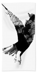 Street Crow Hand Towel by Jerry Cordeiro