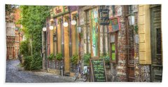Street In Ghent Bath Towel