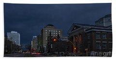 Night Street In Regina Bath Towel