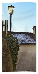 Bath Towel featuring the photograph Street Lamp At The Castle  by Felicia Tica