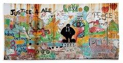 Street Mural At Liguanea Bath Towel
