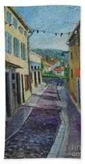 Street View From Provence Bath Towel