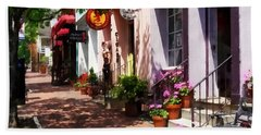 Alexandria Va - Street With Art Gallery And Tobacconist Hand Towel