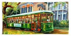 Streetcar On St.charles Avenue Hand Towel