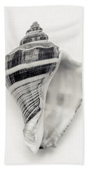 Striped Sea Shell Hand Towel by Lucid Mood