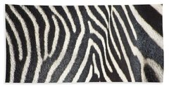 Stripes And Ripples Hand Towel by Kathy McClure