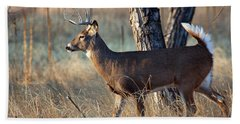 Hand Towel featuring the photograph Strutting Buck by Jim Garrison