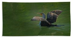 Strutting Cormorant Bath Towel