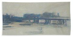 Study For Charing Cross Bridge, 1899-1901 Oil On Canvas Bath Towel