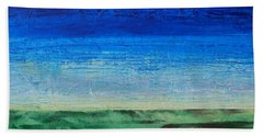 Bath Towel featuring the painting Study Of Earth And Sky by Linda Bailey