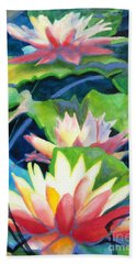 Styalized Lily Pads 3 Hand Towel by Kathy Braud