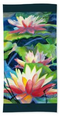 Styalized Lily Pads 3 Hand Towel
