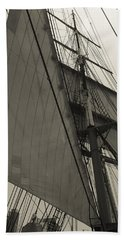 Suare And Triangle Black And White Sepia Hand Towel