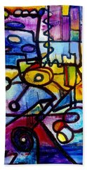 Suburbias Daily Beat Bath Towel by Regina Valluzzi