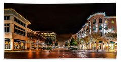Sugar Land Town Square Hand Towel by David Morefield