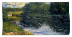 Bath Towel featuring the painting Summer At Jackson Lake by Gail Kirtz