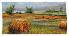Summer Bales Bath Towel by Meaghan Troup