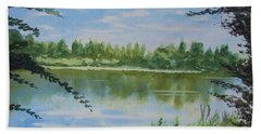 Summer By The River Hand Towel