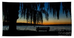 Summer Evening At Stewart Park Bath Towel