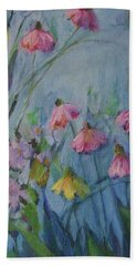 Summer Flower Garden Hand Towel by Mary Wolf